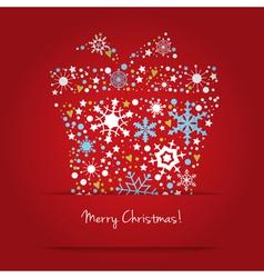 Bright Christmas gift box vector image vector image