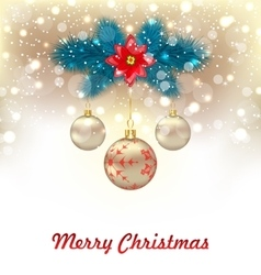 Christmas glowing background vector