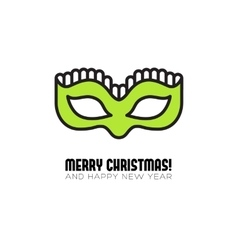 Christmas party mask flat icon vector image