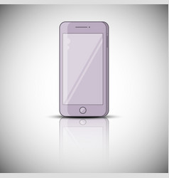color realistic mobile phone smarphone vector image vector image
