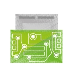 Drawing usb circuit electronic hardware vector