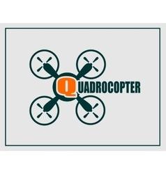 Drone quadrocopter icon Quadrocopter text vector image vector image