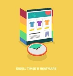 Dwell times heatmaps vector