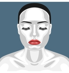 Fashion beauty female model with white skin vector