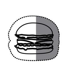 figure hamburger fast food icon vector image vector image