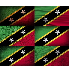 Flag of saint kitts and nevis with old texture vector