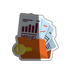 Folder password key documents vector