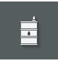 Gasoline barrel symbol vector