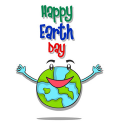 Happy earth day design style vector