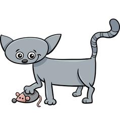 Kitten or cat catoon vector