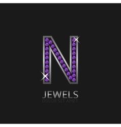 Letter n logo vector