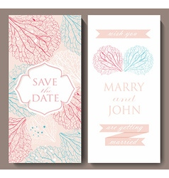 Marriage invitation card with flowerbackground vector