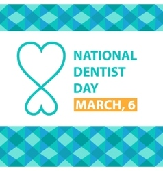 National dentist day march 6 poster vector