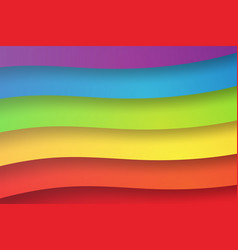 paper art of shape rainbow abstract vector image