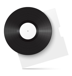Realistic vinyl record and sleeve vector image