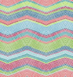 Seamless crochet pattern vector