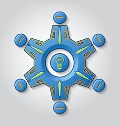 Teamwork generates ideas vector