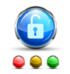 unlock button vector image vector image