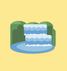 Waterfall - flat design icon vector
