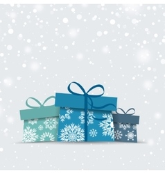 Christmas presents vector image