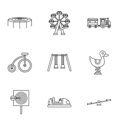 Swing icons set outline style vector