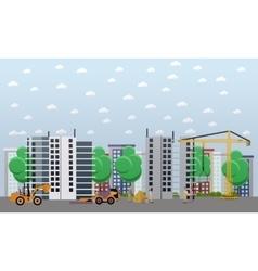 Residential construction concept vector