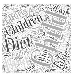 Dieting for children word cloud concept vector