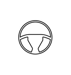steering wheel line icon car and navigation vector image