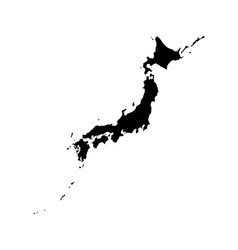 Map of Japan vector image
