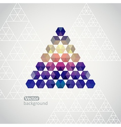 Triangle triangle background with plenty sp vector