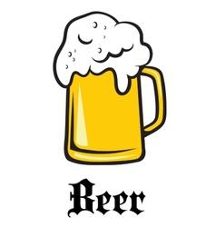 Beer tankard emblem vector
