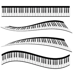 Piano keyboards vector