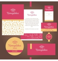Stationery template design for cafe sweets vector