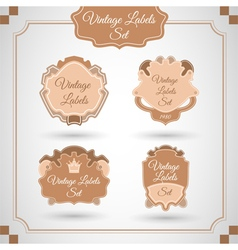 Set with vintage labels vector