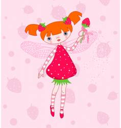 Strawberry fairy vector