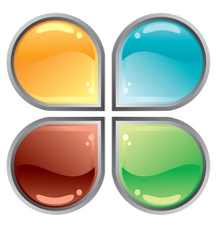 Abstract web button vector