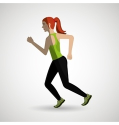 Runner avatar design vector