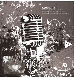 concert poster with microphone vector image