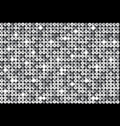 Background with shiny silver sequins eps10 vector