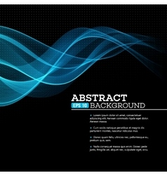 Abstract blue shining wave background vector image