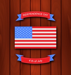 American Background with Flag vector image vector image