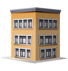 architecture design for three storey building vector image vector image