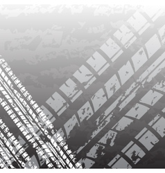Black tire track vector image vector image