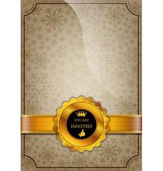 Brown Invitation Design vector image vector image