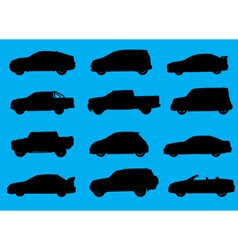 Cars silhouettes part 4 vector image vector image