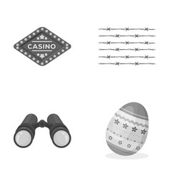 Casino justice and other monochrome icon in vector