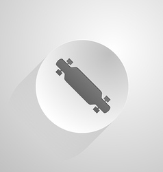 Circle icon for longboard vector
