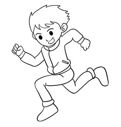Collection of boy running character vector