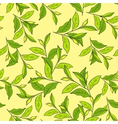 Colorful background with leaves vector image
