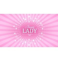 Cute pink banner for princess vector